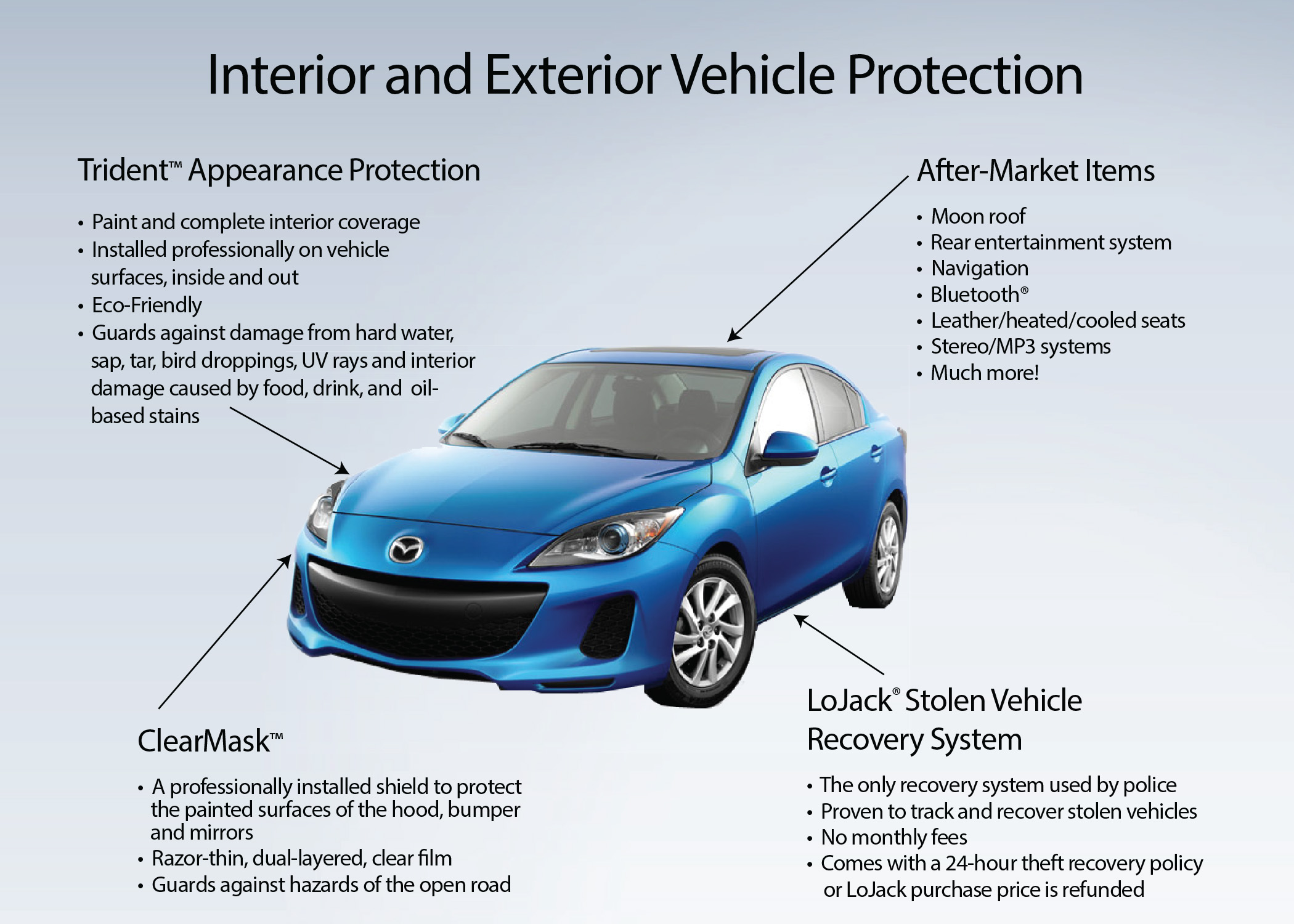 Interior and exterior vehicle protection